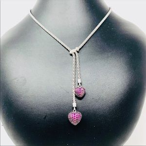 Like 🆕 sterling heart necklace w crystals, 14.7g